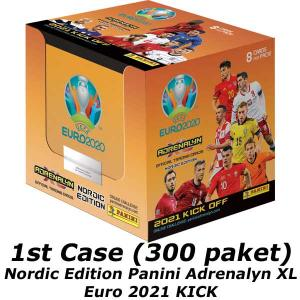1 Case (300 packs), Nordic Edition Panini Adrenalyn XL Euro 2021 KICK OFF