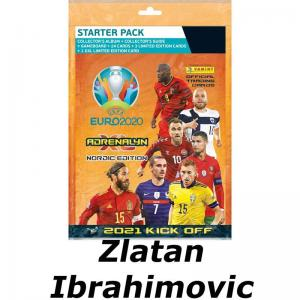1 Mega Starter Pack ZLATAN IBRAHIMOVIC, Nordic Edition Panini Adrenalyn XL 2021 KICK OFF