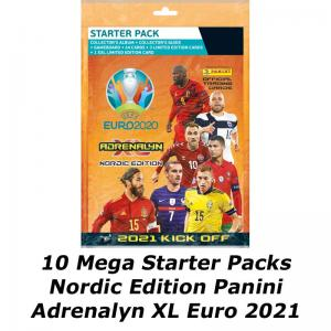 10 Mega Starter Pack, Nordic Edition Panini Adrenalyn XL Euro 2021 KICK OFF