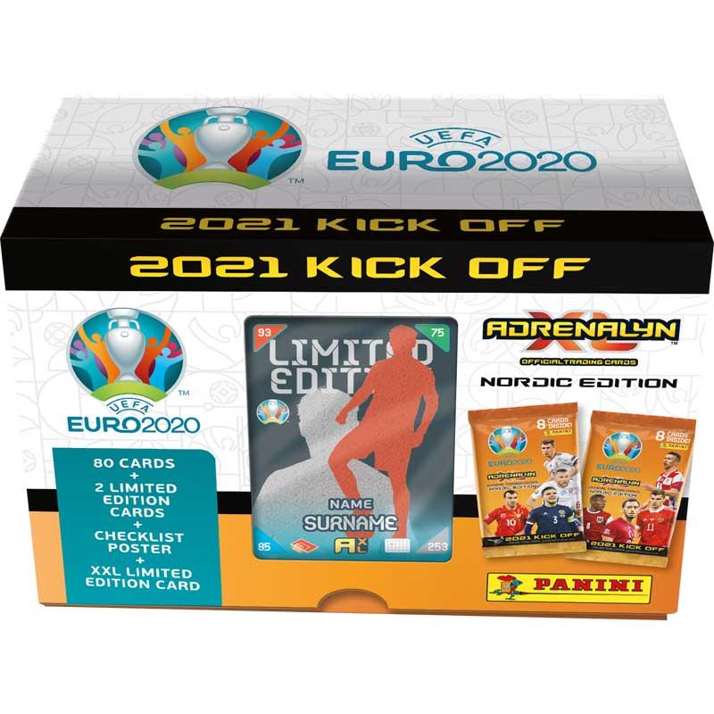 1st Gift Box, Nordic Edition Panini Adrenalyn XL Euro 2021 KICK OFF