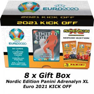 8 Gift Box, Nordic Edition Panini Adrenalyn XL Euro 2021 KICK OFF