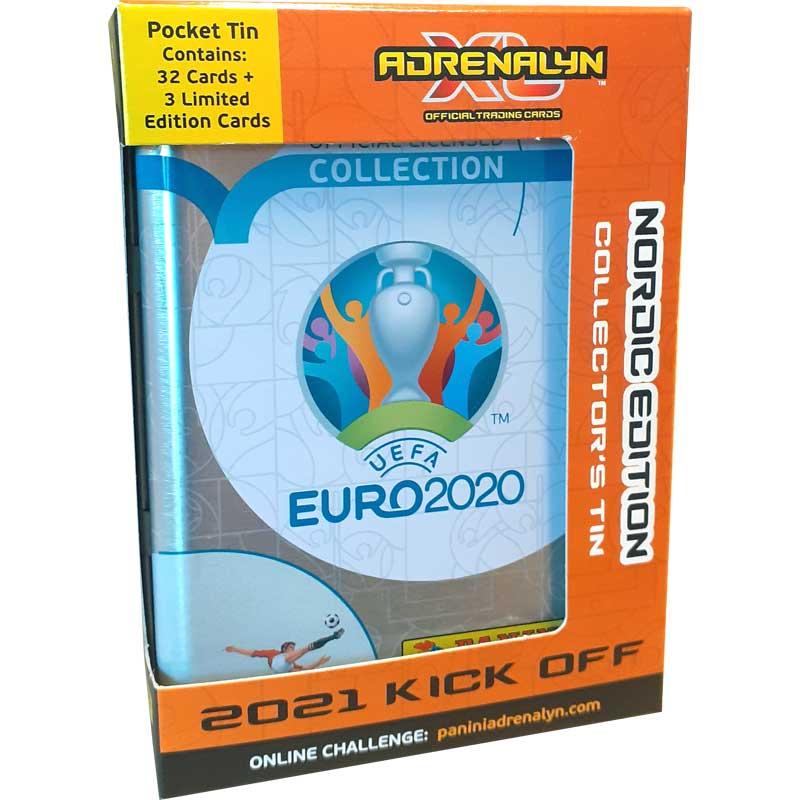 1st Pocket Tin, Nordic Edition Panini Adrenalyn XL Euro 2021 KICK OFF