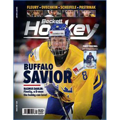 Beckett Hockey, #07 2018, July (Buffalo Savior Rasmus Dahlin)