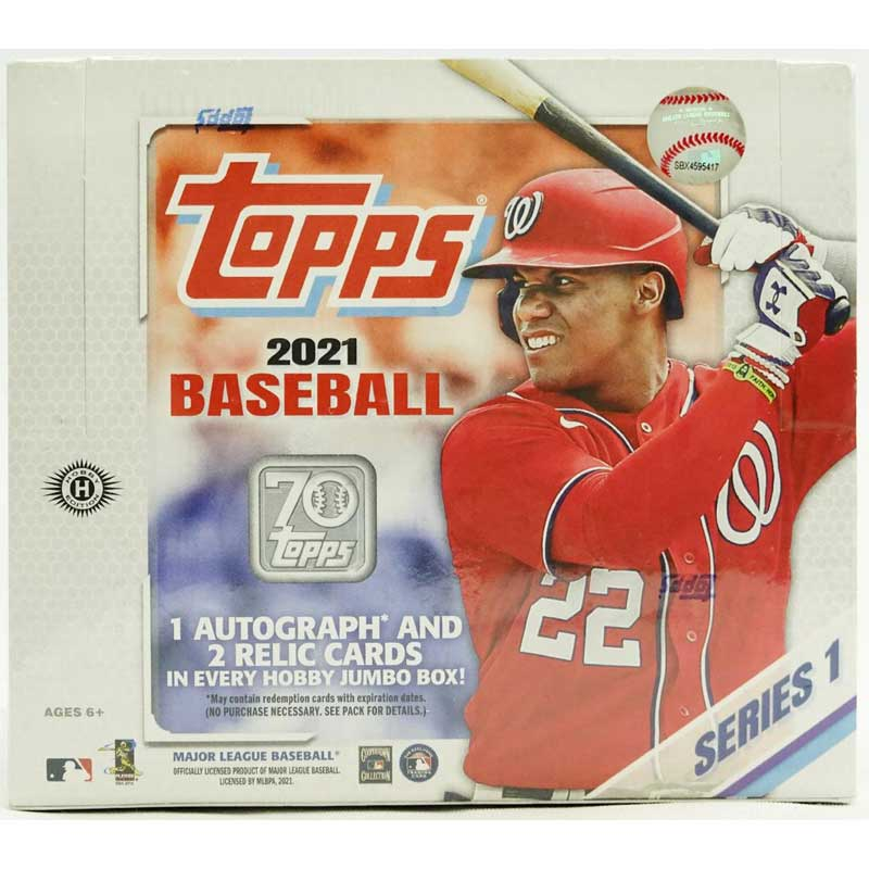 Hel Jumbo Box 2021 Topps Baseball Series 1 Jumbo Box