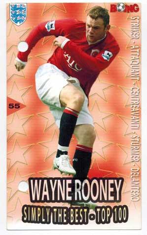 Wayne Rooney Boing Simply the best #55 - Lite slitet