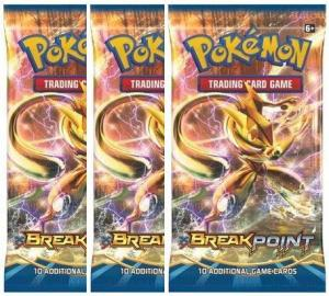 Pokemon, XY BREAKpoint, 3 Booster