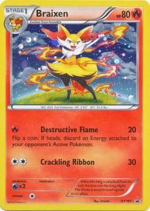 Pokemon Promo Cards, Braixen - XY161 - Holo Promo