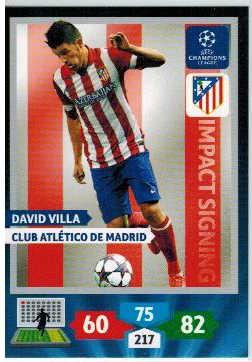 Impacts Signings, 2013-14 Adrenalyn Champions League, David Villa