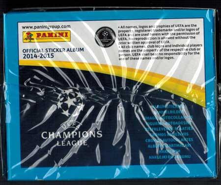 Box (50 Packs), Panini Stickers Champions League 2014-15