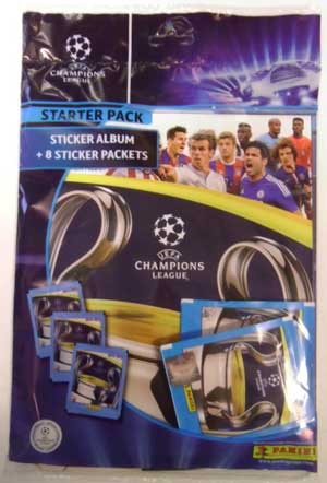 Starter Pack, Panini Stickers Champions League 2014-15 (Including 8 packs)