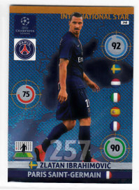International Star, 2014-15 Adrenalyn Champions League, Zlatan Ibrahimovic