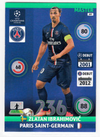 Master, 2014-15 Adrenalyn Champions League, Zlatan Ibrahimovic