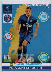 Scandinavian Star, 2014-15 Adrenalyn Champions League, Zlatan Ibrahimovic