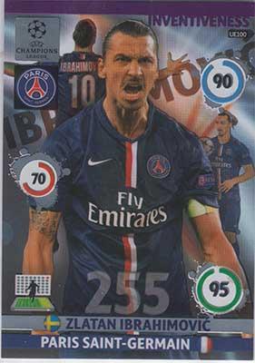 Inventiveness, 2014-15 Adrenalyn Champions League UPDATE #UE100 Zlatan Ibrahimovic