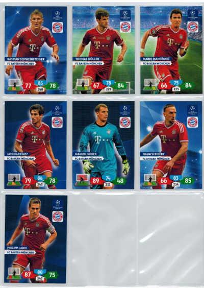 Grundkort FC Bayern Munchen, 2013-14 Adrenalyn Champions League, Välj från lista