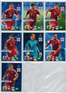 Base cards FC Bayern Munchen, 2013-14 Adrenalyn Champions League, Pick from list