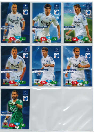 Grundkort F.C Kobenhavn, 2013-14 Adrenalyn Champions League, Välj från lista
