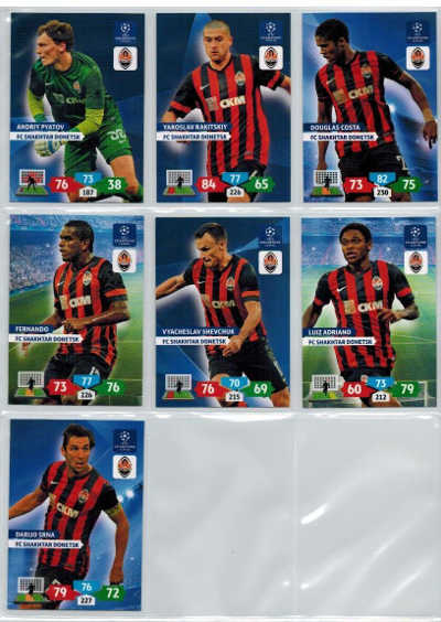 Base cards FC Shakhtar Donetsk, 2013-14 Adrenalyn Champions League, Pick from list