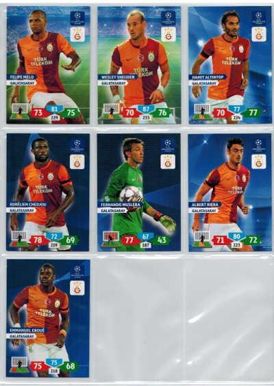 Grundkort Galatasaray, 2013-14 Adrenalyn Champions League, Välj från lista