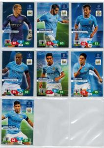 Base cards Manchester City FC, 2013-14 Adrenalyn Champions League, Pick from list