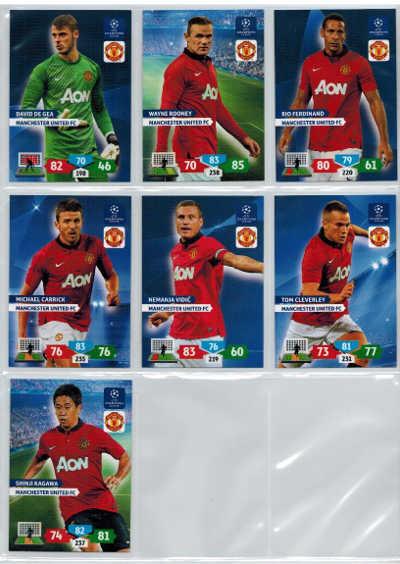 Grundkort Manchester United FC, 2013-14 Adrenalyn Champions League, Välj från lista