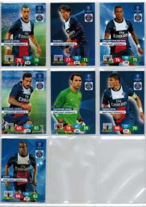 Base cards Paris Saint-Germain FC, 2013-14 Adrenalyn Champions League, Pick from list
