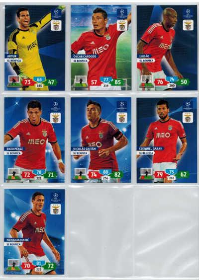 Grundkort SL Benfica, 2013-14 Adrenalyn Champions League, Välj från lista