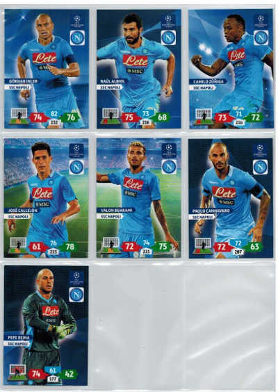 Base cards SSC Napoli, 2013-14 Adrenalyn Champions League, Pick from list