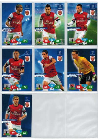 Grundkort Arsenal FC, 2013-14 Adrenalyn Champions League, Välj från lista