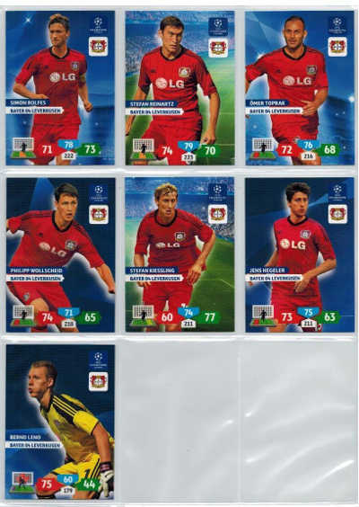 Grundkort Bayer 04 Leverkusen, 2013-14 Adrenalyn Champions League, Välj från lista