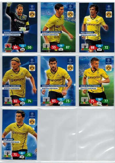 Grundkort Borussia Dortmund, 2013-14 Adrenalyn Champions League, Välj från lista