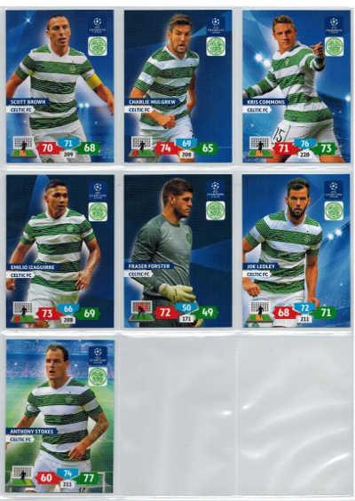 Grundkort Celtic FC, 2013-14 Adrenalyn Champions League, Välj från lista