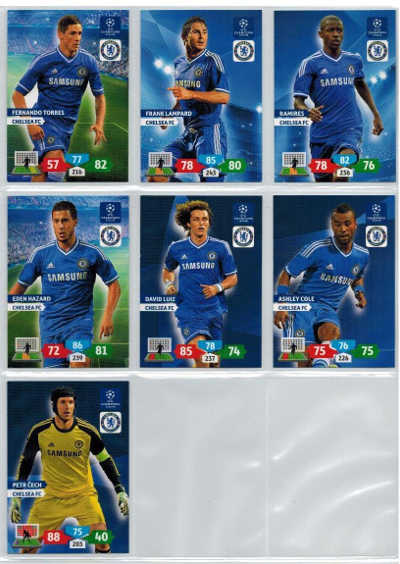 Base cards Chelsea FC, 2013-14 Adrenalyn Champions League, Pick from list