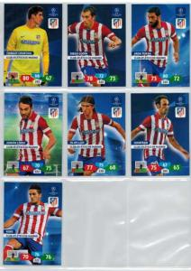 Base cards Club Atletico De Madrid, 2013-14 Adrenalyn Champions League, Pick from list