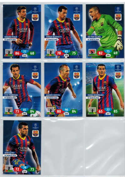 Base cards FC Barcelona, 2013-14 Adrenalyn Champions League, Pick from list