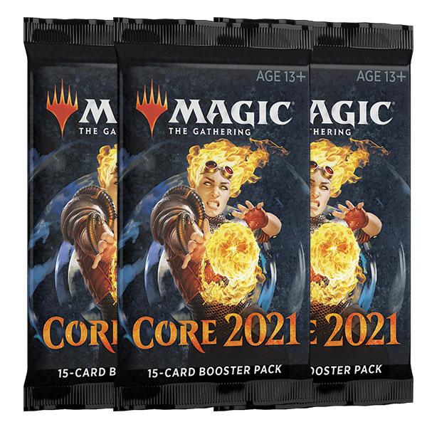 Magic, Core Set 2021, 3 Boosters