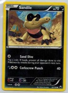 Pokémon, Dark Explorers, Sandile - 64/108 - Common