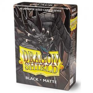 Japanese Dragon Shields Matte, 60 sleeves, Black (Yu-Gi-Oh)