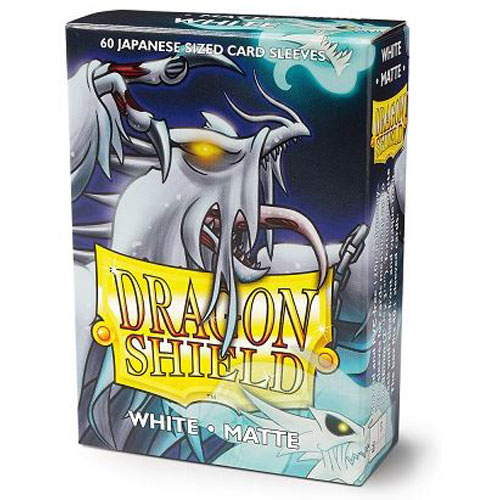 Japanese Dragon Shields Matte, 60 sleeves, White (Yu-Gi-Oh)