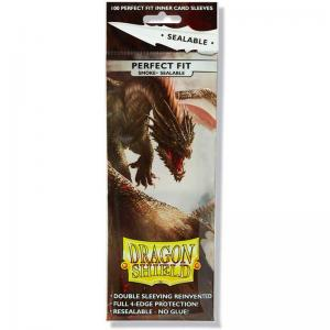 Dragon Shield, Perfect Fit Sealable – 100 Standard Size - Smoke
