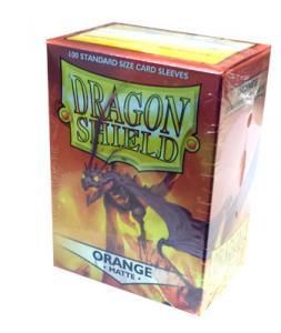 Dragon Shields Matte, 100 sleeves, Orange