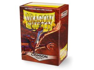 Dragon Shields Matte, 100st, Crimson