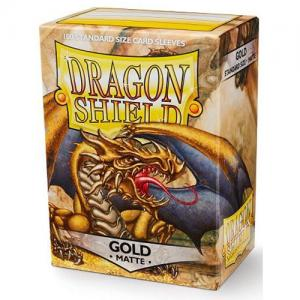 Dragon Shields Matte, 100st, Gold