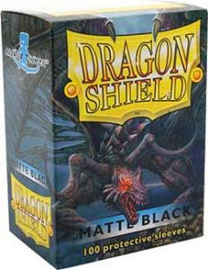 Dragon Shields Matte, 100 sleeves, Black