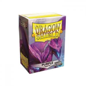 Dragon Shields Matte Non-Glare, 100st, Purple - NON-GLARE