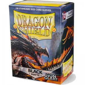 Dragon Shields Matte Non-Glare, 100st, Black - NON-GLARE