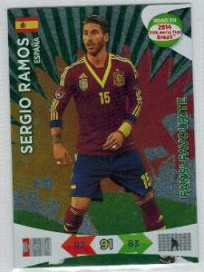 Fan Favourite, 2013-14 Adrenalyn Road to the World Cup, Sergio Ramos