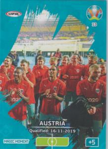 Adrenalyn Euro 2020 - 013 - Austria Qualified - Magic Moment