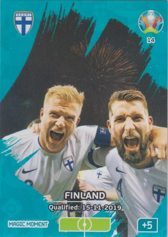 Adrenalyn Euro 2020 - 014 - Finland Qualified - Magic Moment