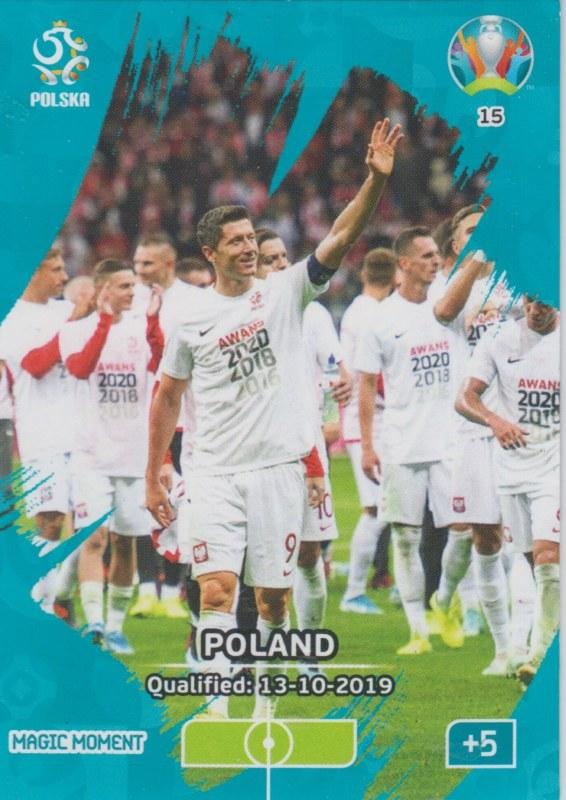 Adrenalyn Euro 2020 - 015 - Poland Qualified - Magic Moment
